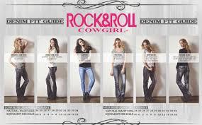 Rock N Roll Jeans Size Chart Rock Roll Cowgirl Boyfriend Fit Straight Leg Jeans W2 3402