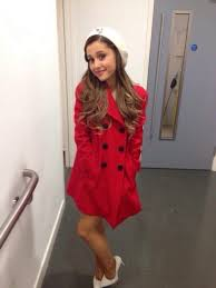 jacket ariana grande beautiful coat baby i the way right there red shoes red coat cute coat wheretoget