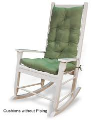 rocking chair cushion set solid colors
