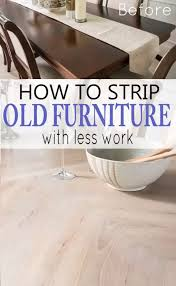 how to strip furniture with less work