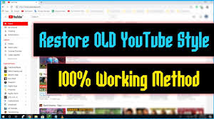 Latest How To Revert Back To The Old Youtube Channel Design