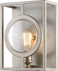 z lite 448 1s b as port modern antique silver wall sconce loading zoom