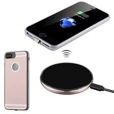 Antye Qi Wireless Charger Kit for iPhone 7 Plus 5.5', Includes Wireless  Charging Case and Wireless Charging Pad Charger Base, Rose Gold *** Click  on the image f…