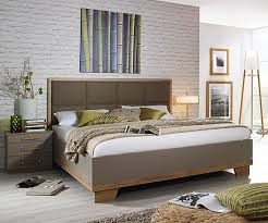 rauch furniture altona rivera oak with fango 4ft6in double bed with faux leather padded headboard