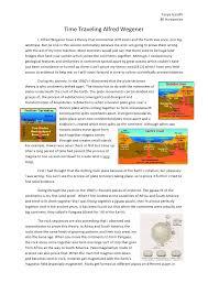 time traveling alfred wegener essay tanya gandhi