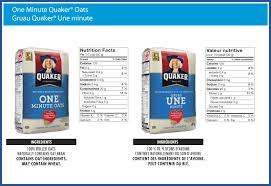 one minute quaker oats