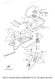 Yamaha motorcycle 2006 oem parts diagram for fuel tank partzilla 2009 yamaha ttr 50 dirt