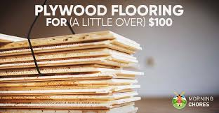 Cheap flooring ideas Inexpensive Morningchores Diy Cheap Plywood Flooring Ideas For 100 In Easy Steps