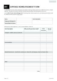 Expense Reimbursement Form Templates Expense Reimbursement Form Template Employee Mileage Claim