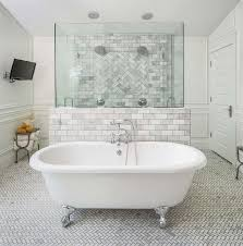 Clawfoot Tub Bathroom Ideas Unique A Vintage Claw Foot Bathtub And Tub Filler Stands Atop A Marble