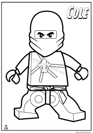 Ninjago Lego Coloring Pages Cole 01 Boys Birthday Lego Coloring
