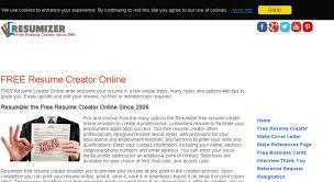Access Resumizer Com Free Resume Creator Online Write And Print