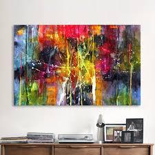 Qkart Abstrakte Malerei Bunte Leinwand Wand Bilder Für Wohnzimmer