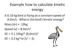 example how to calculate kinetic energy