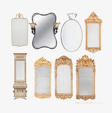 Several Different Styles Of Antique Mirrors Continental Chinese