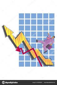 Abstract Clipart Businessman Climbs Chart Stock Vector