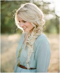 bohemian loose fishtail side braid hairstyle