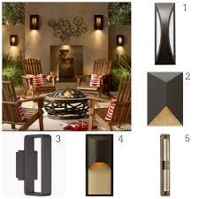 modern bronze outdoor lighting options
