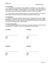 Bill Of Sale Contract Template Vehicle Bill Of Sale Printable Carsut Understand Cars And 14