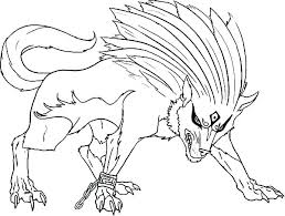 Anime Wolf Coloring Pages Wolf Anime Wolf Girl Coloring Page