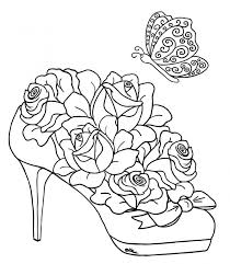 Small Picture Coloring Pages Of Roses And Hearts Hearts And Roses Coloring Pages