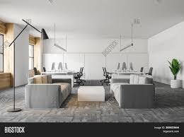Light Gray Settee Interior Office Image Photo Free Trial Bigstock
