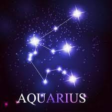 Vector of the aquarius zodiac sign N2 free image