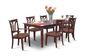 image madison avenue dining table with 4 side chairs and 2 arm chairs