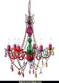 boho pendant light gypsy color 6 arm large multi color chandelier lighting new rainbow style design