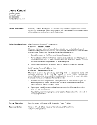 Collection Of Solutions Resume Collection Resume For Your Debt