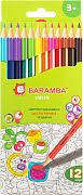 <b>Набор цветных карандашей</b> трехгранных <b>Action</b> Черное дерево ...