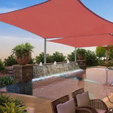 2pcs 12 x 12 square sun shade sail uv blocking outdoor patio lawn garden
