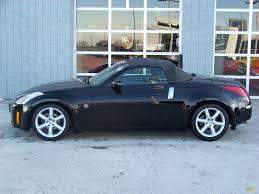 nissan 350z black convertible. 2004 nissan 350z roadster black profile top up 350z convertible e