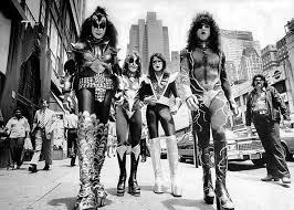 70s 1970 s kiss walking june 24th rock new york city photo 1976 joy fennell makeup