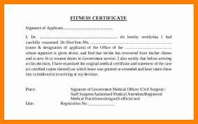 Medical Fitness Certificate Format Doc New Template Med As Medical