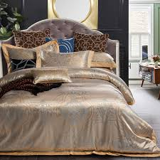 gray and gold bedding. Beautiful Gray 4pc Gray Gold Jacquard Bedding Sets Queen King Size Duvet Cover Set Silk  Cotton Blend Fabric Intended And Gold Bedding