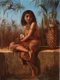an eygptian flower girl