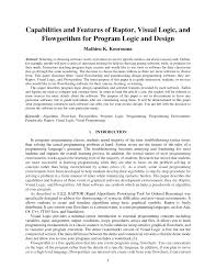 Starting Out With Programming Logic And Design 3rd Edition Pdf Pdf Capabilities And Features Of Raptor Visual Logic And