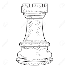 Rook Design Retro Sketch Of A Rook Chess Piece Vector Illustration Design
