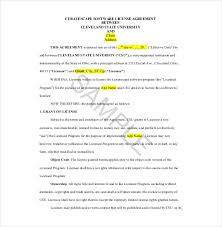 example short form license agreement template license agreement short form template