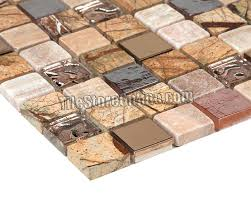 glass stone mosaic tile glass stone and copper metal mosaic 1 x 1 glass tile brown glass stone mosaic tile