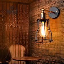 Us 1857 48 Offvintage Schmiedeeisen Indoor Wandleuchten Küche Antike Wandleuchte Industrie Kronleuchter Beleuchtung Schwarz Moderne Kleine Led