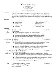 Pretentious Production Manager Resume Template Creative