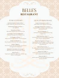 french menu template french cuisine menu french menus