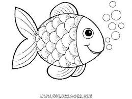 pre rainbow fish coloring sheet to print for free
