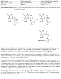 rganic reactions seldom yield pure substances in many instances several reactions proceed simultaneously and