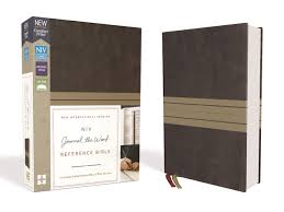 Niv Journal The Word Reference Bible Leathersoft Browntan Red