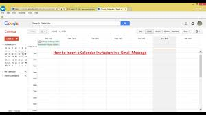 how to insert a calendar invitation in a gmail message oct 2016