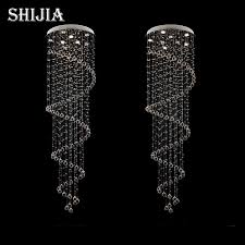 staircase lighting fixtures. d80cm modern led spiral lustre crystal pendant light fixtures long stair for staircase hotel foyer lighting