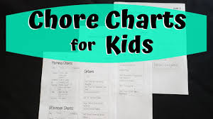 Zone Cleaning Chart For Kids Chore Charts For Kids Flexible Zone Cleaning